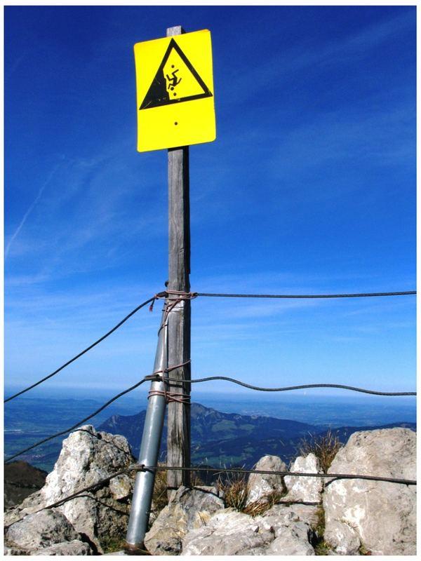 """Nebelhorn-Gipfel - """"Achtung, hier ist das Ende"""""""