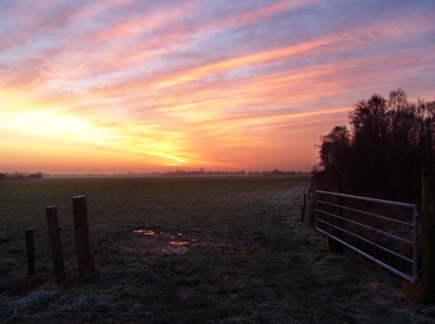 Nebeliger Sonnenaufgang...