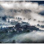 Nebellandschaft Toskana