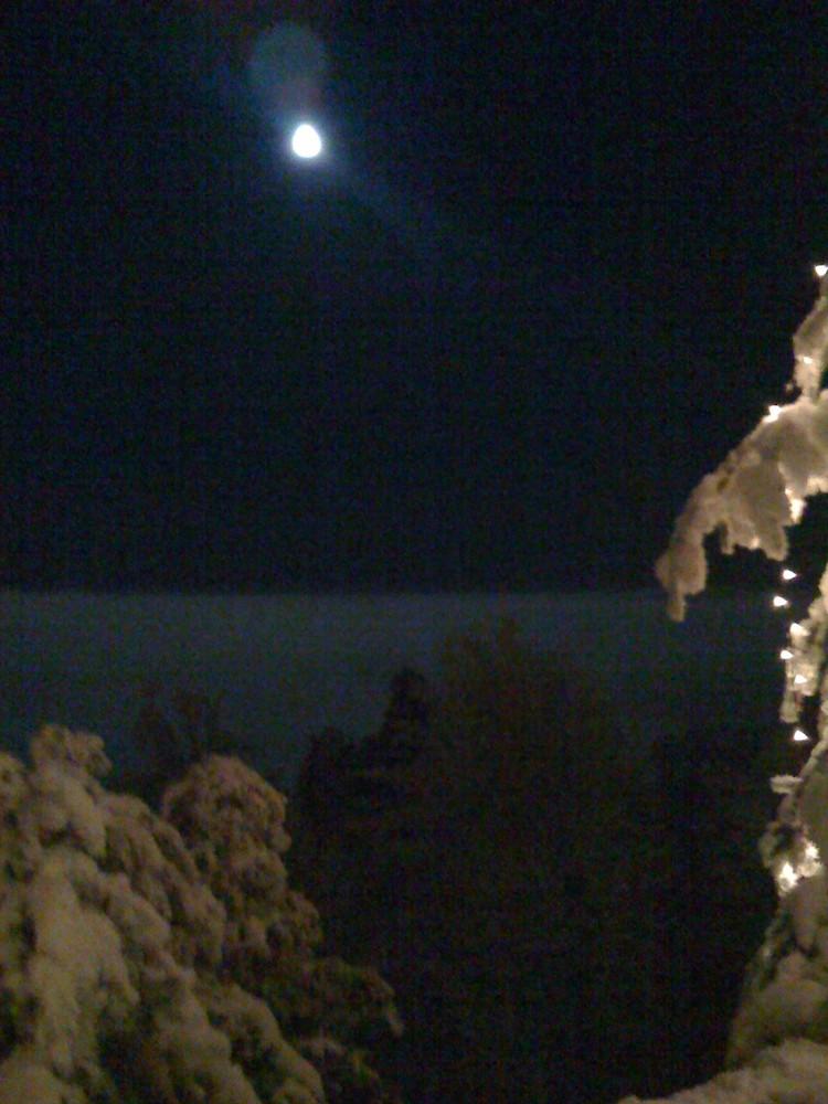 Nebelmeer mit Vollmond