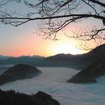 Nebelmeer überm Vierwaldstättersee