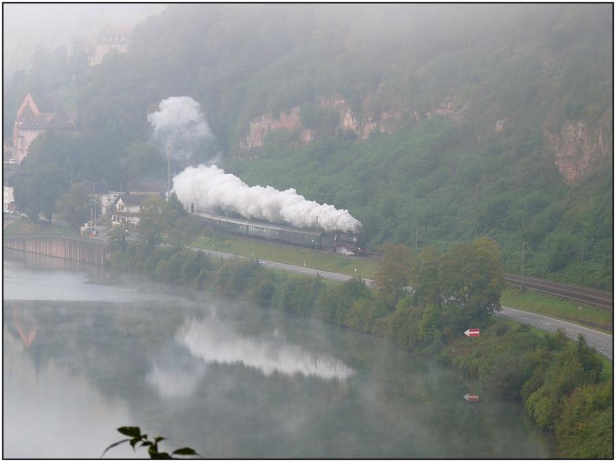Nebelmorgen am Neckar