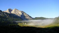 Nebelmorgen auf der Reiteralpe