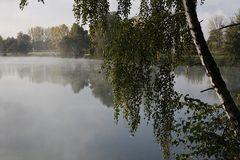Nebelschleier über dem See