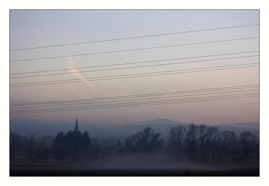 Nebelschleierlückeneindrücke bei 150 km/h