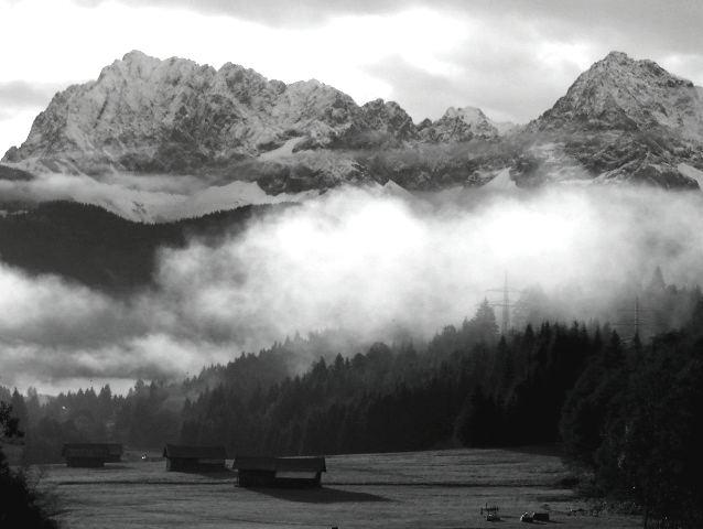 Nebelschwaden im Werdenfelserland