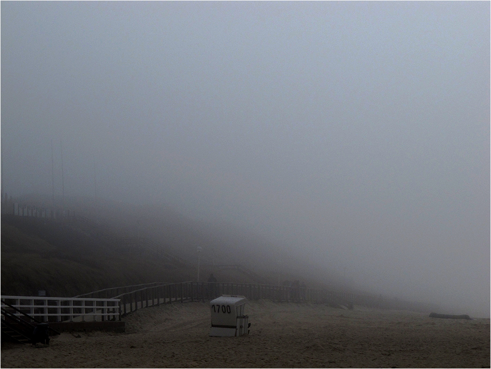 Nebelstimmung am Strand