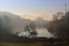 Nebelstimmung am Wenigerweiher ...