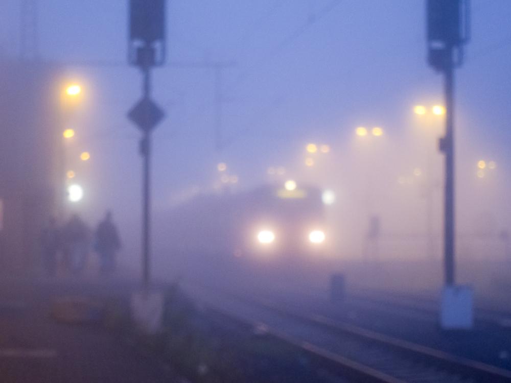 Nebelstimmung morgens auf dem Weg zur Arbeit