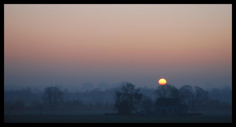 Nebliger Sonnenaufgang!
