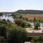 Neckar bei Gundelsheim - Blick vom Schloss Horneck