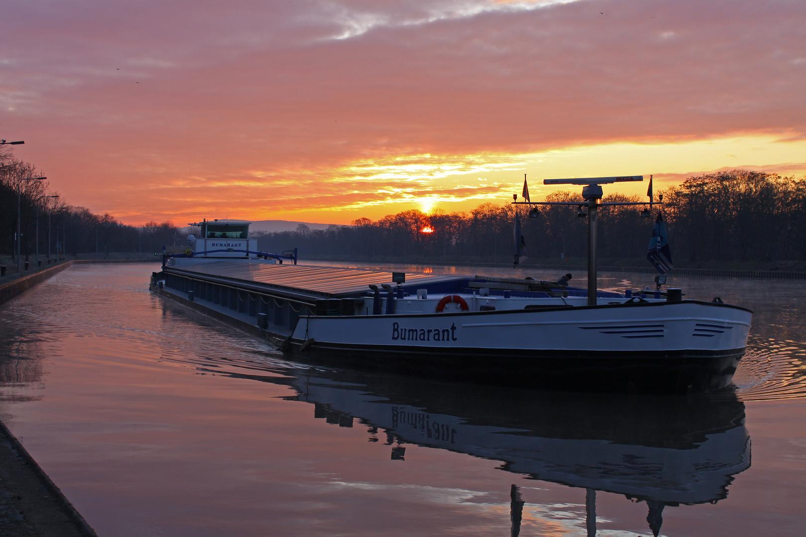 Neckar bei Schleuse Mannheim