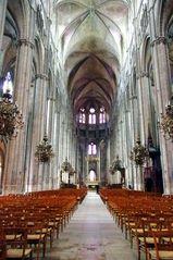 Nef centrale, cathédrale de Bourges