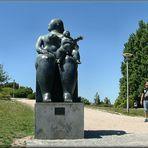 Nel parco a Lisbona.