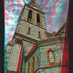 Neogothic Church, Anaglyph 3D