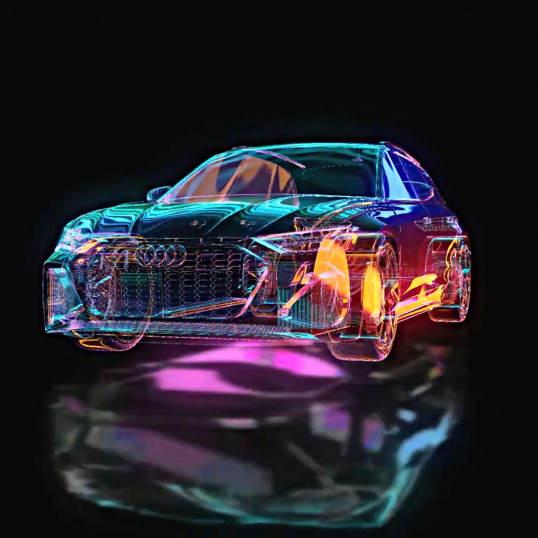 Neon Audi R6 Avant