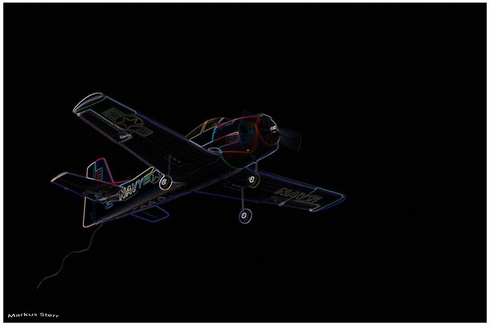 Neon Flight in the Night