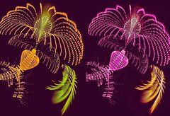 Neon Flower Creation