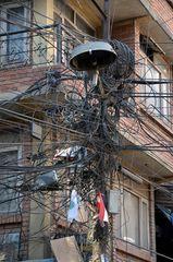 Nepal-Electric in der Altstadt von Kathmandu