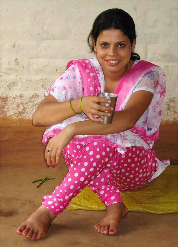 nepalesische Lehrerin in Lalitpur