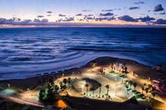 Netanyas Küste im Sonnenuntergang - Netanya, Israel
