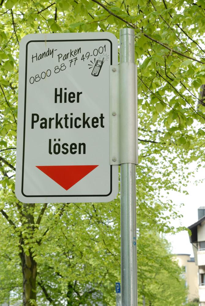Neu in der Stadt: Handy-Parken