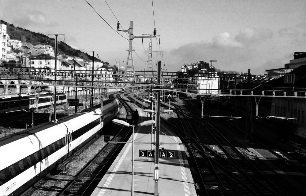 Neuchâtel et sa gare