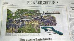 Neue Basteiideen für Interessierte an der Sächsischen Schweiz  SZ Pirnaer Ausgabe von gestern