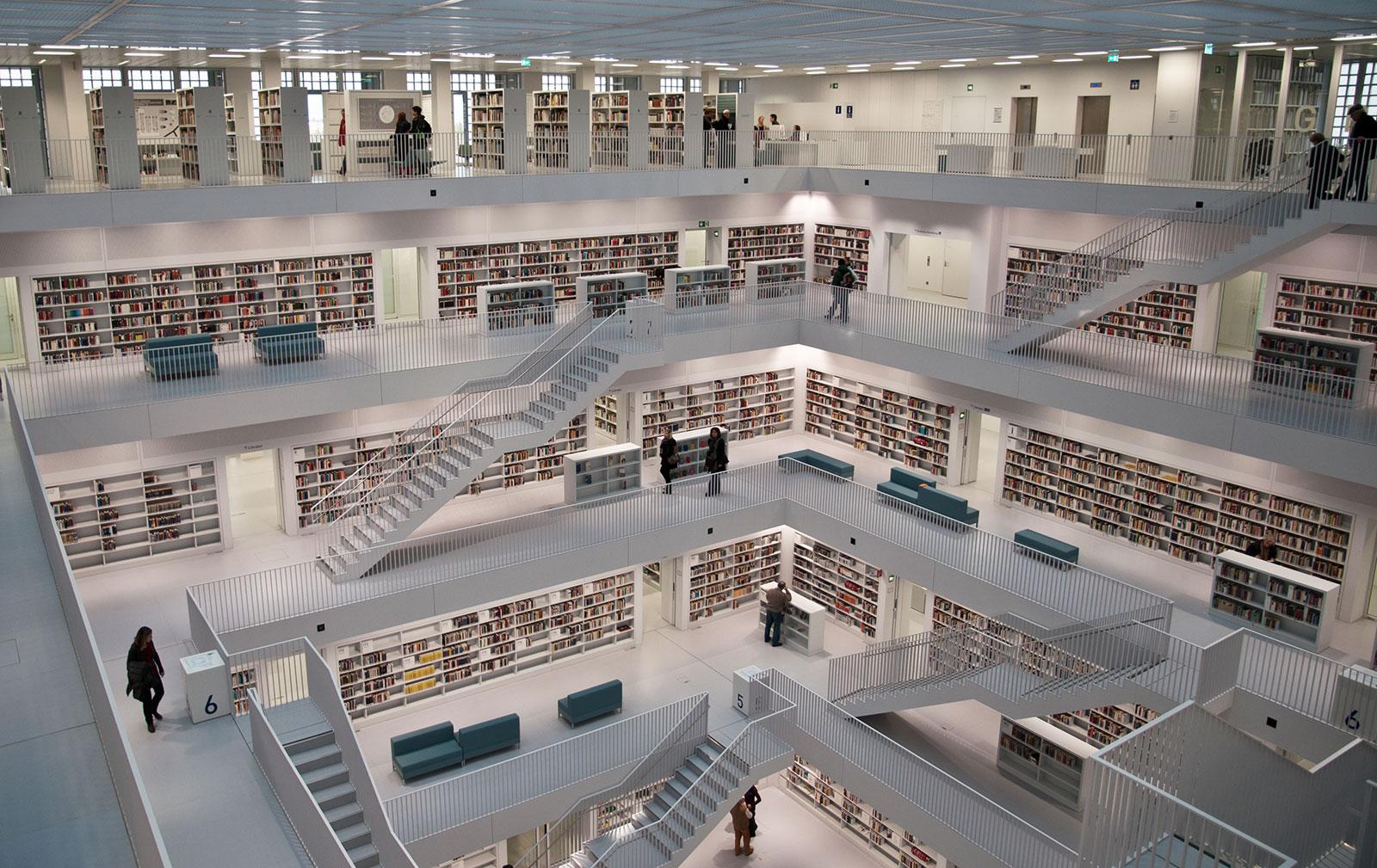 Neue bibliothek stuttgart foto bild architektur for Neue architektur stuttgart