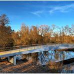 Neue Fahrradsbrücke über Fulda