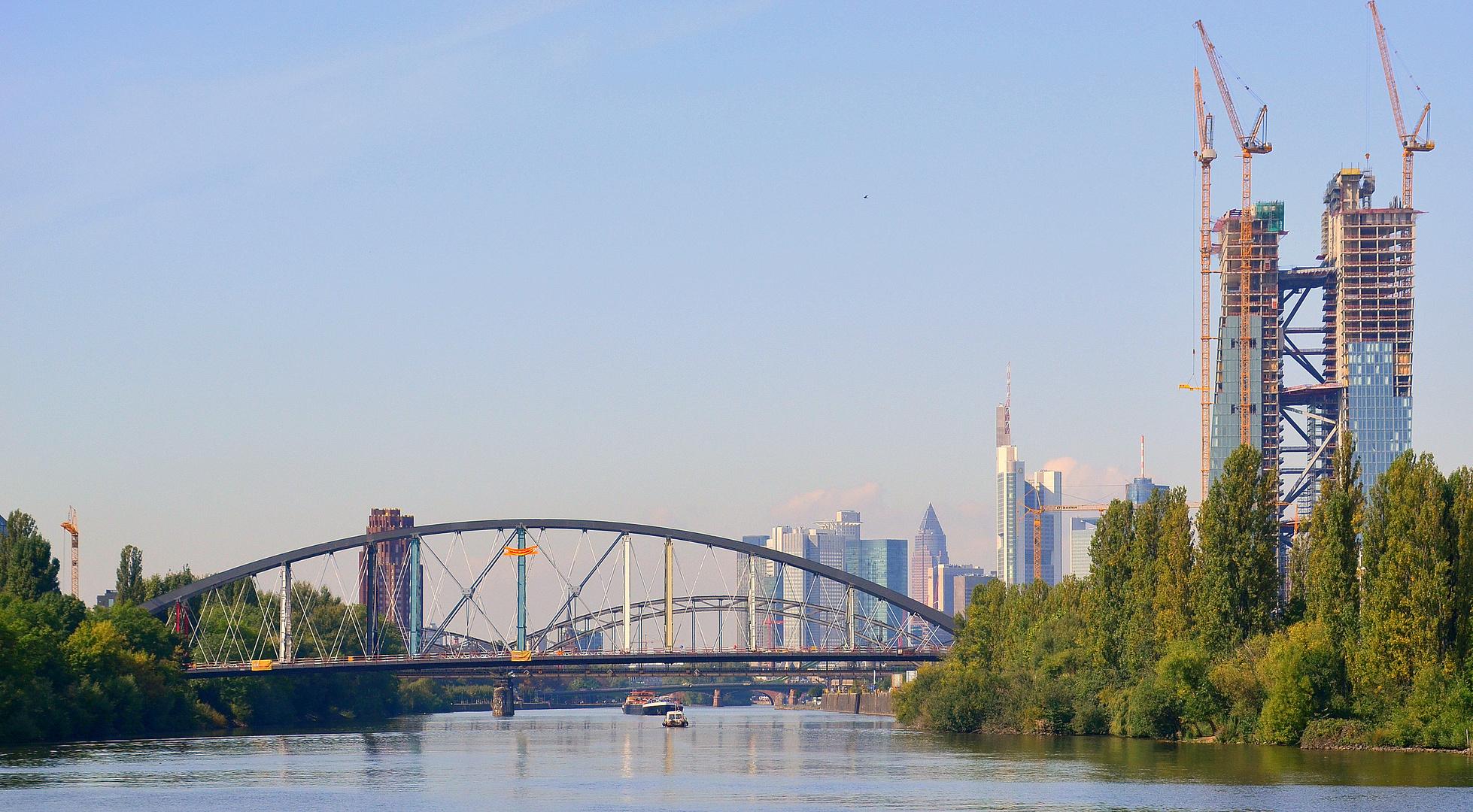 neue Mainbrücke / Osthafenbrücke Frankfurt am Main