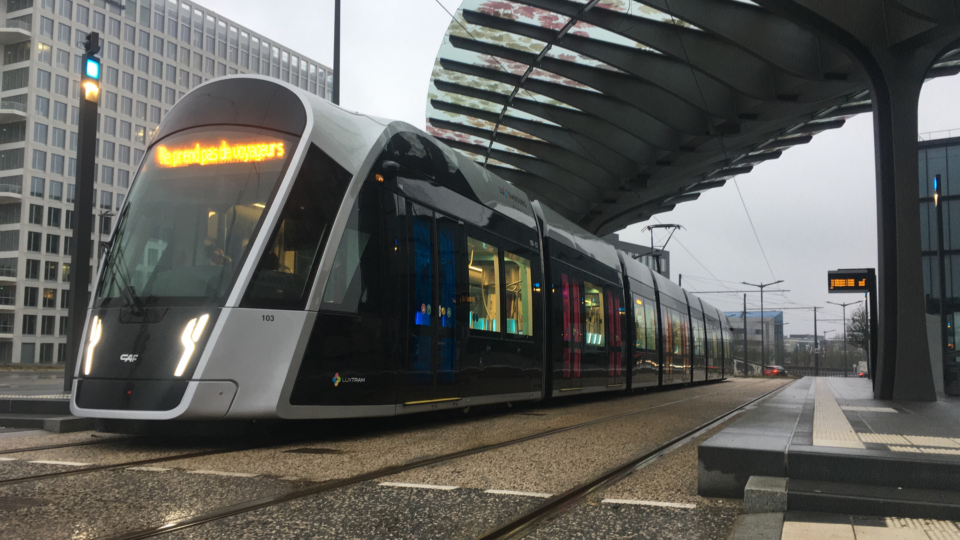 Neue Tram in Luxemburg Stadt (Luxtram)