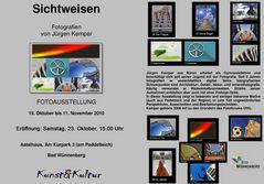 Neuer Termin für die Eröffnung meiner Fotoausstellung in Bad Wünnenberg