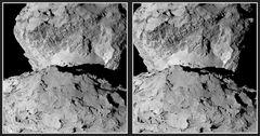 Neueres Stereo von Rosetta (3D)