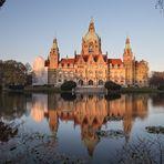 Neues Rathaus Hannover - gespiegelt