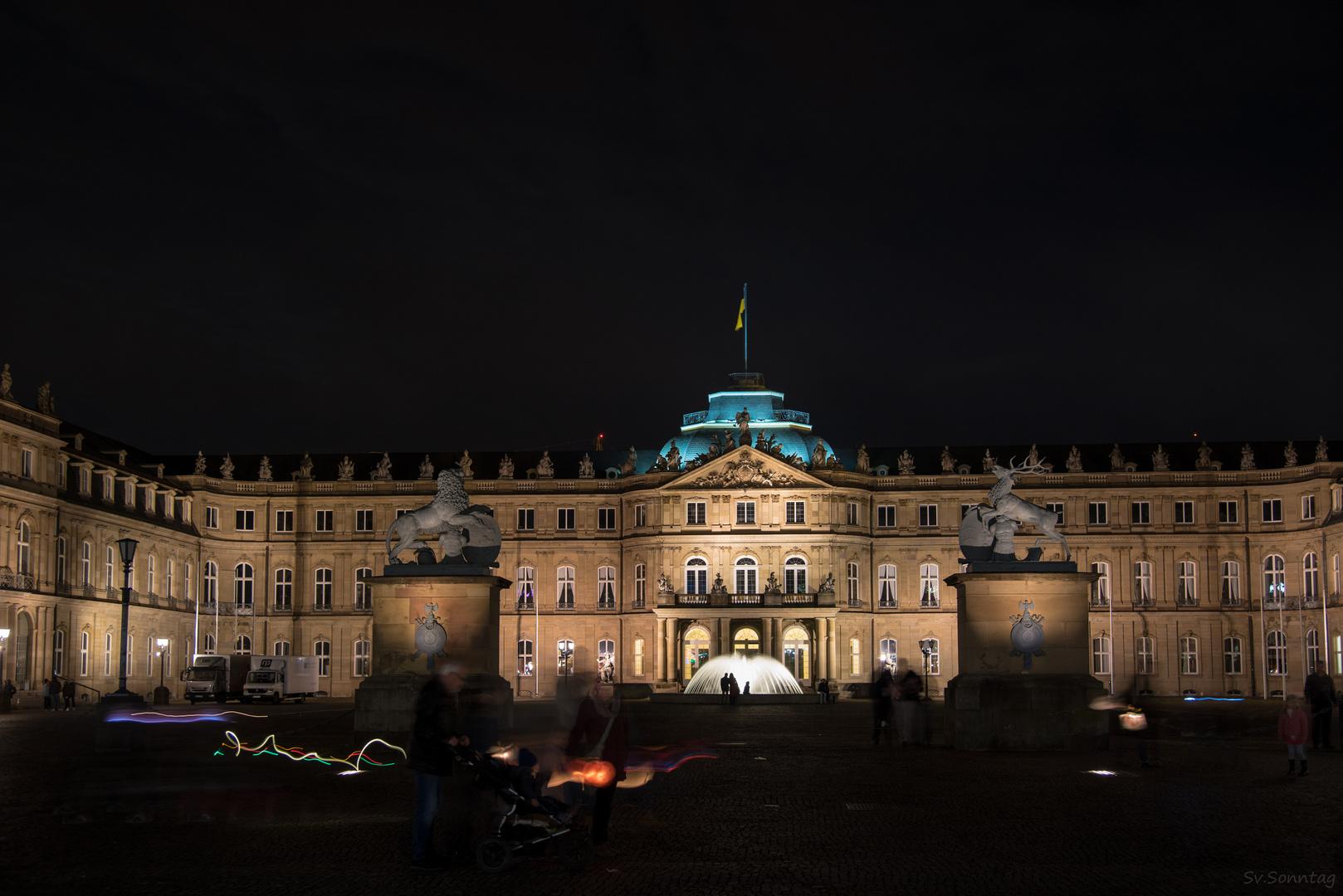 Neues Schloss im Lichterglanz II