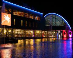Neues Sport-/Wellness-Center in Bensheim bei Nacht