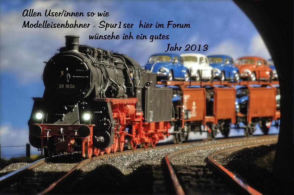Neujahrswünsche/grüße 2013 Foto & Bild | modell - eisenbahnen ...