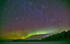 Neumondnacht in Nord-Finnland