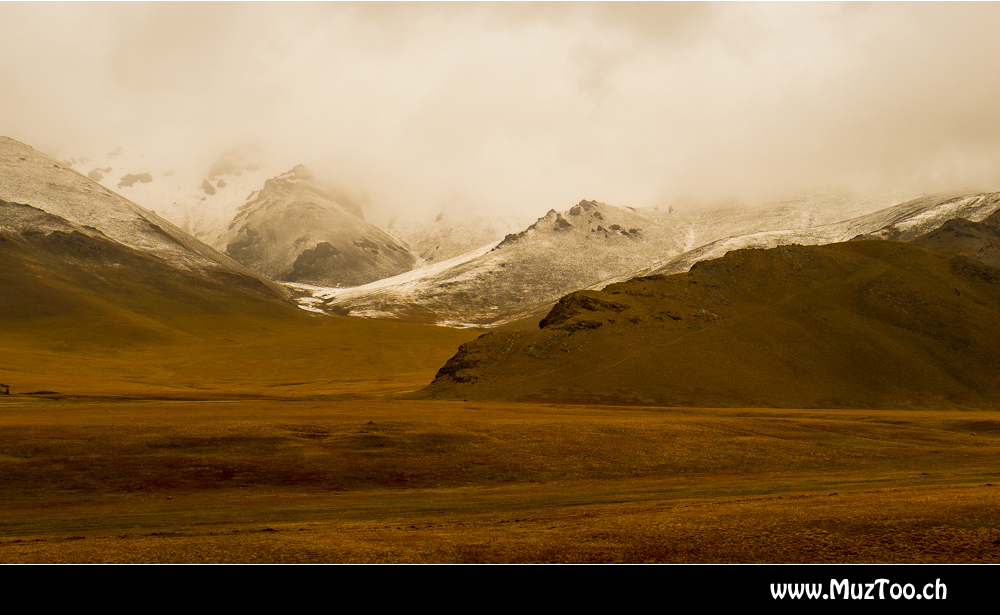 Neuschnee in Kirgistan
