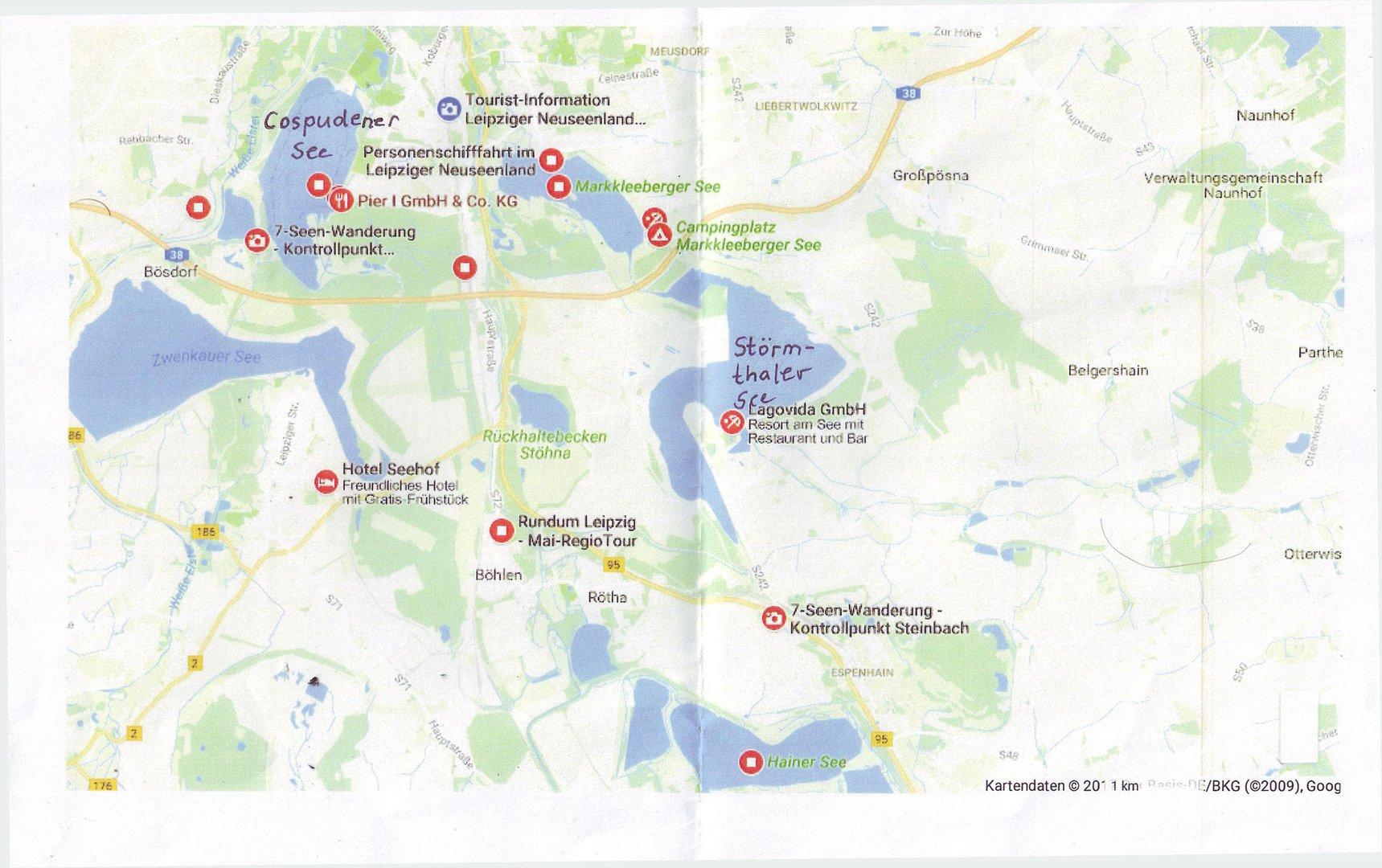 leipziger neuseenland karte Neuseenland Leipzig , die Karte zu den Bildern Foto & Bild