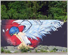 Neuss - Grafiti - auf dem Konrad-Adenauer-Ring