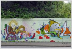 Neuss - Grafitti auf dem Konrad-Adenauer-Ring - 1