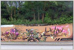 Neuss - Grafitti auf dem Konrad-Adenauer-Ring - 3