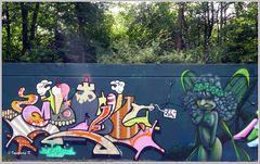 Neuss - Grafitti auf dem Konrad-Adenauer-Ring - 5