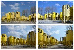 Neuss - Hafen - Silos der Firma SAKRET