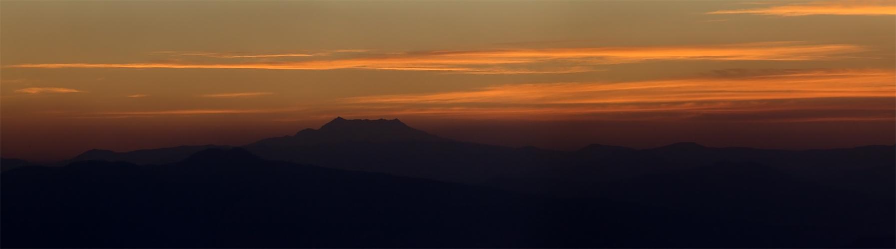 Nevado de Toluca in der Abendsonne
