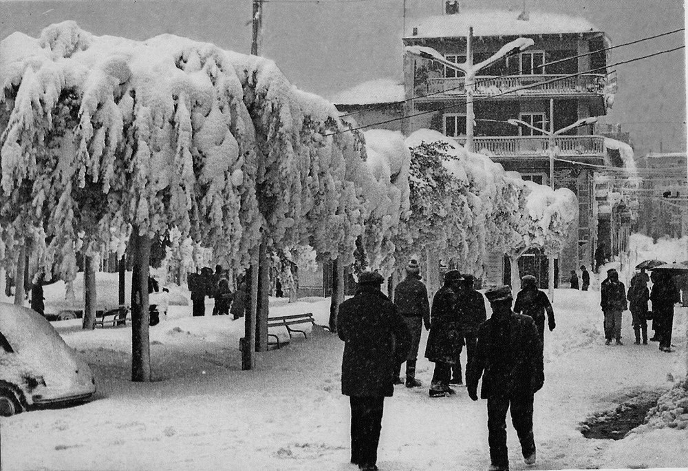 Neve a piazza Garibaldi