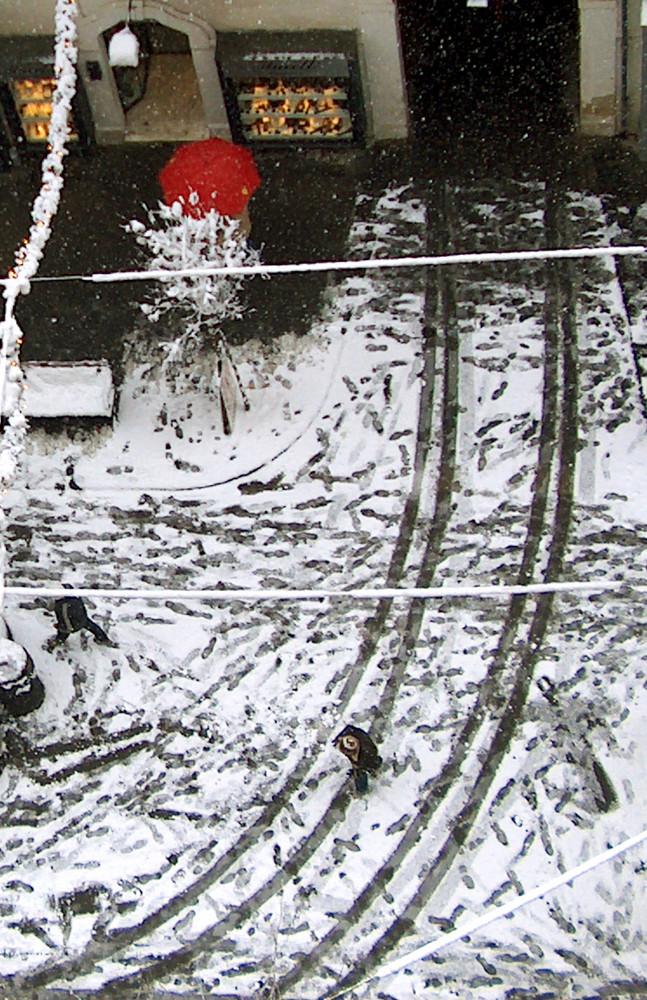 Nevicata vista dal mio balcone