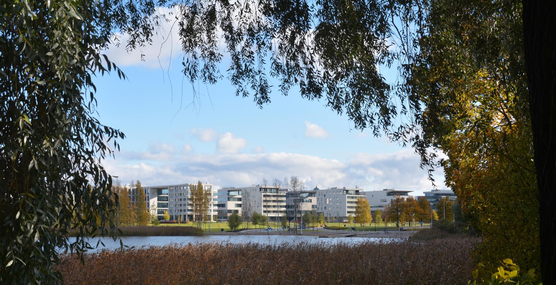 New buildings in the street of Alvar Aalto